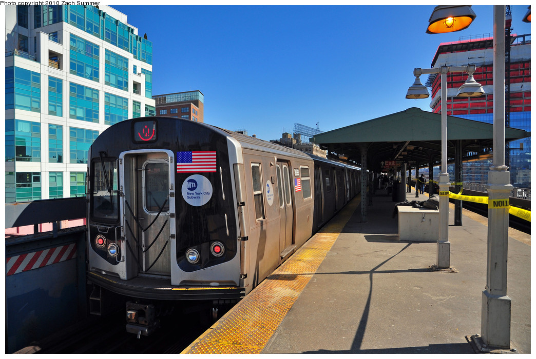 (277k, 1044x700)<br><b>Country:</b> United States<br><b>City:</b> New York<br><b>System:</b> New York City Transit<br><b>Line:</b> BMT Astoria Line<br><b>Location:</b> Queensborough Plaza <br><b>Route:</b> Q<br><b>Car:</b> R-160A-2 (Alstom, 2005-2008, 5 car sets)  8693 <br><b>Photo by:</b> Zach Summer<br><b>Date:</b> 3/7/2010<br><b>Notes:</b> Q Trains extended from 57 St/7 Av to Ditmars Blvd<br><b>Viewed (this week/total):</b> 2 / 1299