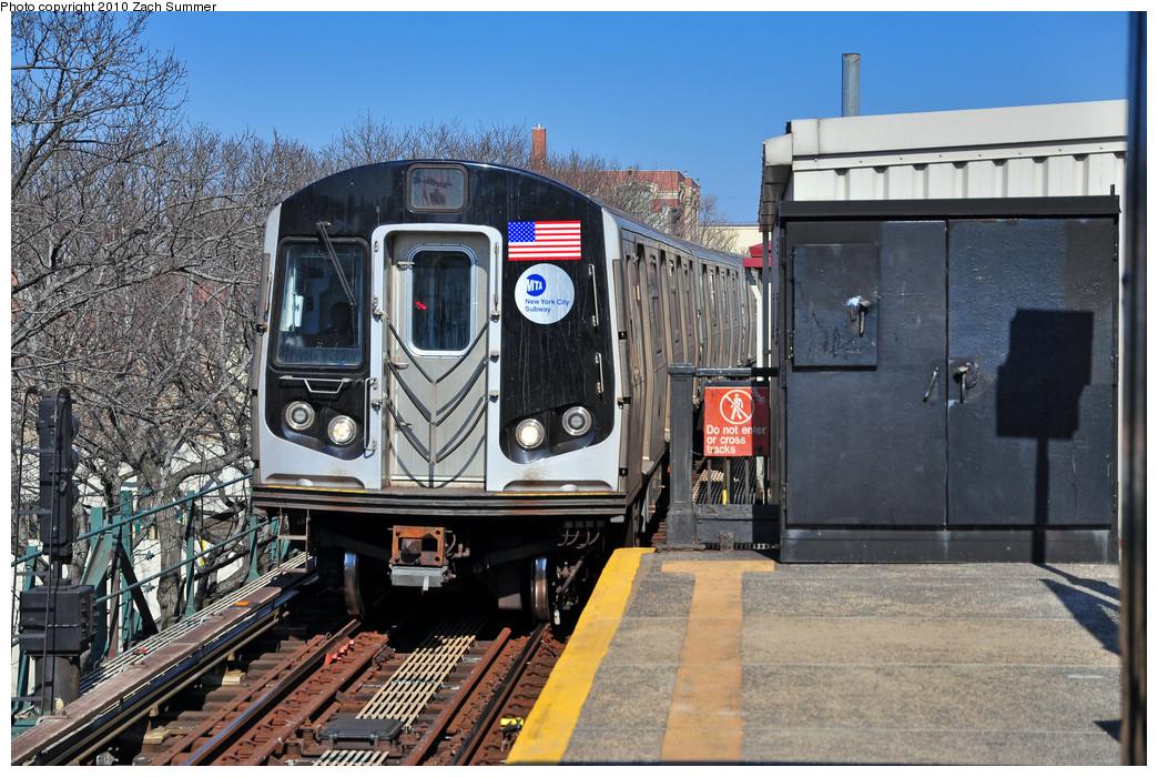 (321k, 1044x700)<br><b>Country:</b> United States<br><b>City:</b> New York<br><b>System:</b> New York City Transit<br><b>Line:</b> BMT Astoria Line<br><b>Location:</b> Astoria Boulevard/Hoyt Avenue <br><b>Route:</b> N<br><b>Car:</b> R-160B (Kawasaki, 2005-2008)  8848 <br><b>Photo by:</b> Zach Summer<br><b>Date:</b> 3/7/2010<br><b>Viewed (this week/total):</b> 1 / 1182