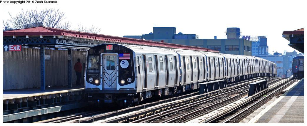 (201k, 1044x429)<br><b>Country:</b> United States<br><b>City:</b> New York<br><b>System:</b> New York City Transit<br><b>Line:</b> BMT Astoria Line<br><b>Location:</b> 36th/Washington Aves. <br><b>Route:</b> Q<br><b>Car:</b> R-160A-2 (Alstom, 2005-2008, 5 car sets)  8678 <br><b>Photo by:</b> Zach Summer<br><b>Date:</b> 3/7/2010<br><b>Notes:</b> Q Trains Extended from 57 St/7 Av to Ditmars Blvd<br><b>Viewed (this week/total):</b> 0 / 1301
