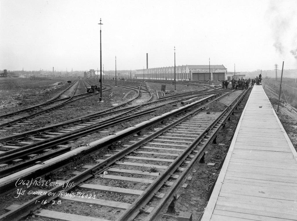 (172k, 1024x762)<br><b>Country:</b> United States<br><b>City:</b> New York<br><b>System:</b> New York City Transit<br><b>Location:</b> Corona Yard<br><b>Collection of:</b> J. McDonald Vanderbilt<br><b>Date:</b> 1/16/1928<br><b>Viewed (this week/total):</b> 0 / 1009