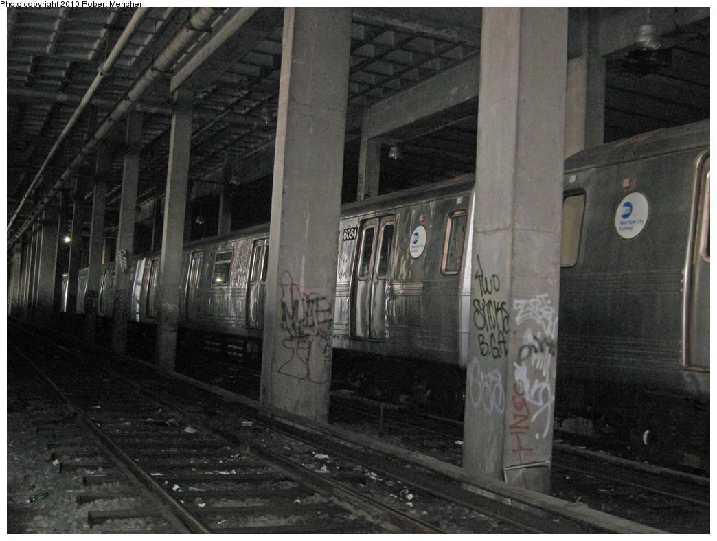 (279k, 1044x788)<br><b>Country:</b> United States<br><b>City:</b> New York<br><b>System:</b> New York City Transit<br><b>Location:</b> Pitkin Yard/Shops<br><b>Car:</b> R-46 (Pullman-Standard, 1974-75) 6054 <br><b>Photo by:</b> Robert Mencher<br><b>Date:</b> 3/31/2010<br><b>Viewed (this week/total):</b> 4 / 1302