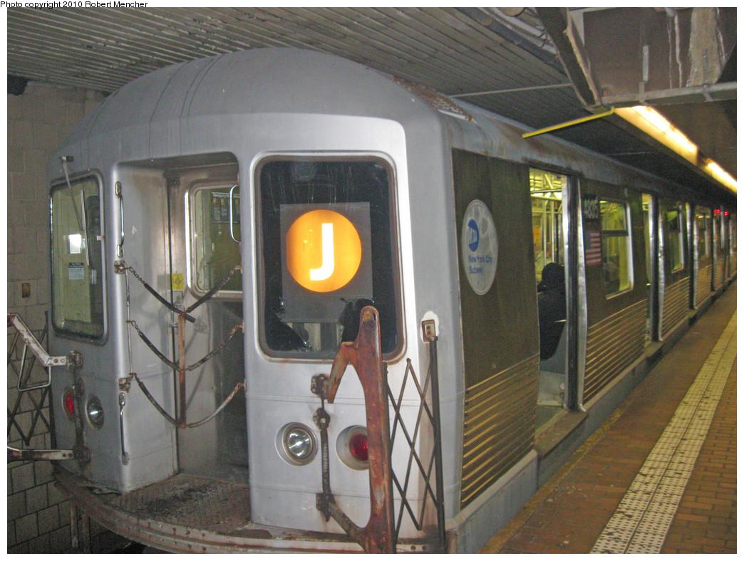 (318k, 1044x788)<br><b>Country:</b> United States<br><b>City:</b> New York<br><b>System:</b> New York City Transit<br><b>Line:</b> BMT Nassau Street-Jamaica Line<br><b>Location:</b> Jamaica Center/Parsons-Archer<br><b>Route:</b> J<br><b>Car:</b> R-42 (St. Louis, 1969-1970) 4835 <br><b>Photo by:</b> Robert Mencher<br><b>Date:</b> 3/31/2010<br><b>Viewed (this week/total):</b> 2 / 1522
