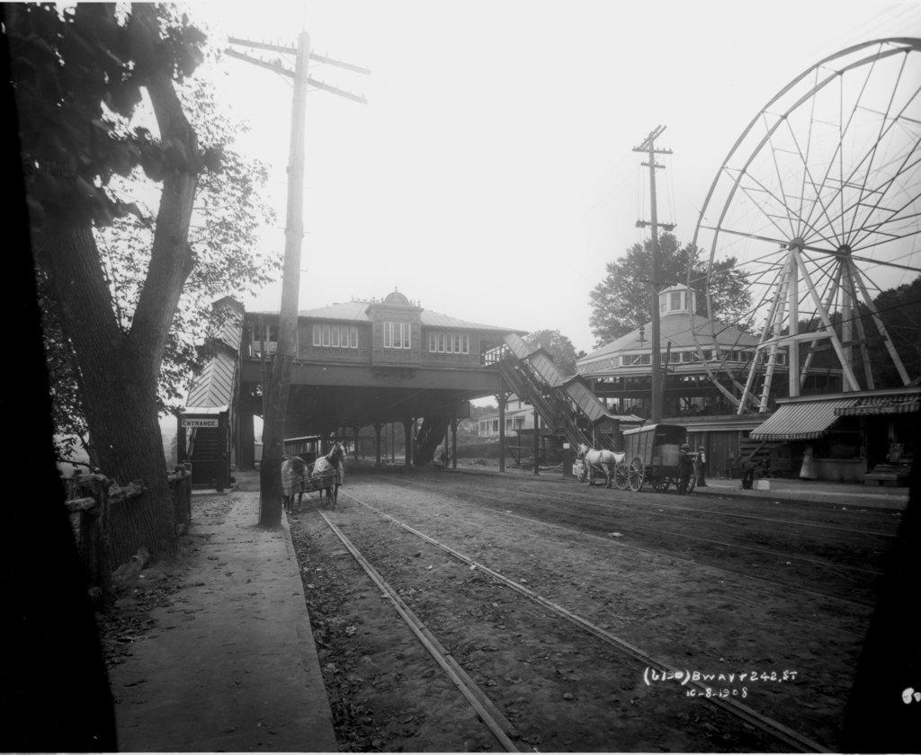(140k, 1024x840)<br><b>Country:</b> United States<br><b>City:</b> New York<br><b>System:</b> New York City Transit<br><b>Line:</b> IRT West Side Line<br><b>Location:</b> 242nd Street/Van Cortlandt Park <br><b>Collection of:</b> J. McDonald Vanderbilt<br><b>Date:</b> 10/8/1908<br><b>Viewed (this week/total):</b> 2 / 3258