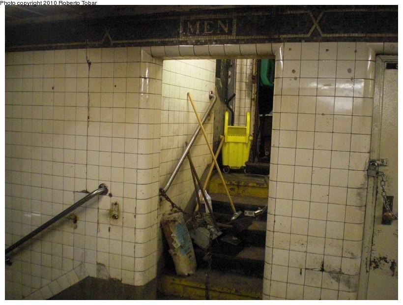 (177k, 820x620)<br><b>Country:</b> United States<br><b>City:</b> New York<br><b>System:</b> New York City Transit<br><b>Line:</b> IRT West Side Line<br><b>Location:</b> 14th Street <br><b>Photo by:</b> Roberto C. Tobar<br><b>Date:</b> 3/19/2010<br><b>Notes:</b> Utility space in mezz.<br><b>Viewed (this week/total):</b> 2 / 1571