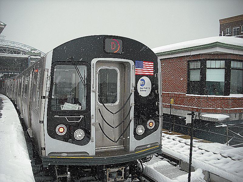 (172k, 800x600)<br><b>Country:</b> United States<br><b>City:</b> New York<br><b>System:</b> New York City Transit<br><b>Location:</b> Coney Island/Stillwell Avenue<br><b>Route:</b> D<br><b>Car:</b> R-160A/R-160B Series (Number Unknown)  <br><b>Photo by:</b> Alize Jarrett<br><b>Date:</b> 2/26/2010<br><b>Viewed (this week/total):</b> 1 / 1521