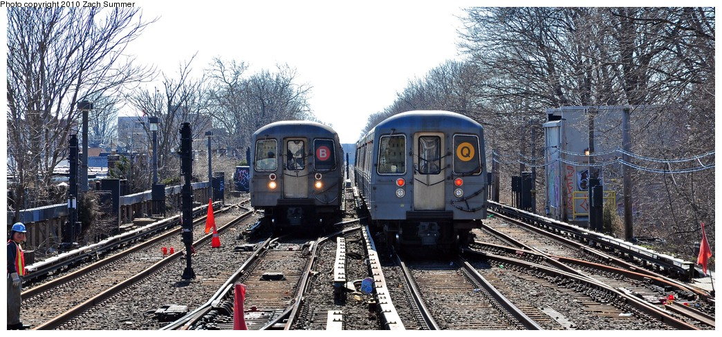 (265k, 1044x488)<br><b>Country:</b> United States<br><b>City:</b> New York<br><b>System:</b> New York City Transit<br><b>Line:</b> BMT Brighton Line<br><b>Location:</b> Kings Highway <br><b>Route:</b> Q<br><b>Car:</b> R-68A (Kawasaki, 1988-1989)  5172 <br><b>Photo by:</b> Zach Summer<br><b>Date:</b> 3/9/2010<br><b>Notes:</b> With R68 2904 on the B<br><b>Viewed (this week/total):</b> 5 / 1463