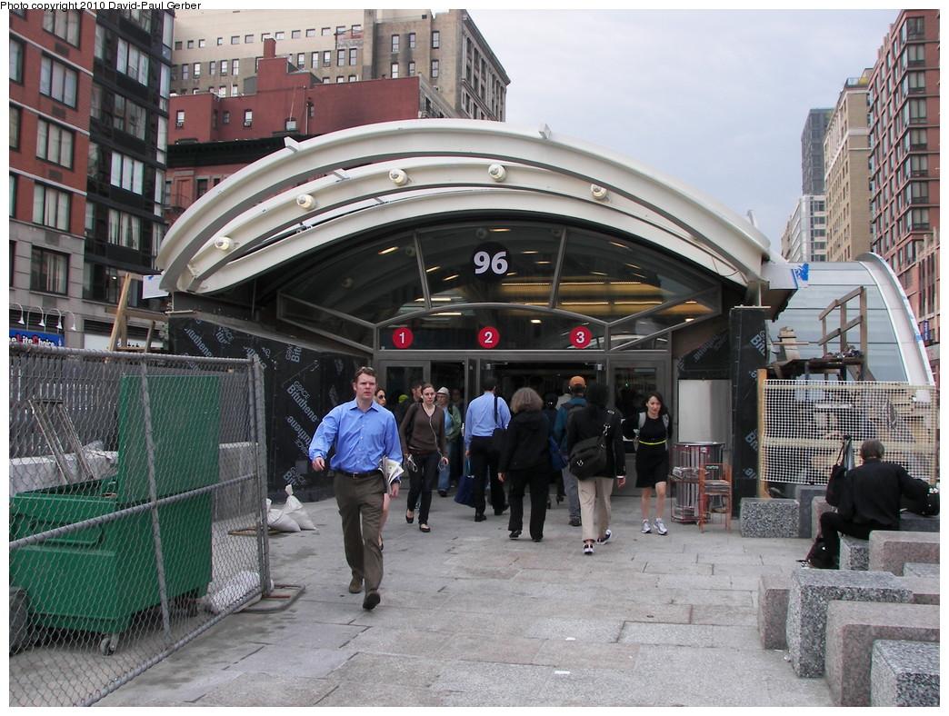 (322k, 1044x788)<br><b>Country:</b> United States<br><b>City:</b> New York<br><b>System:</b> New York City Transit<br><b>Line:</b> IRT West Side Line<br><b>Location:</b> 96th Street <br><b>Photo by:</b> David-Paul Gerber<br><b>Date:</b> 4/6/2010<br><b>Notes:</b> New 96th St. headhouse opened April 5, 2010.<br><b>Viewed (this week/total):</b> 0 / 1687