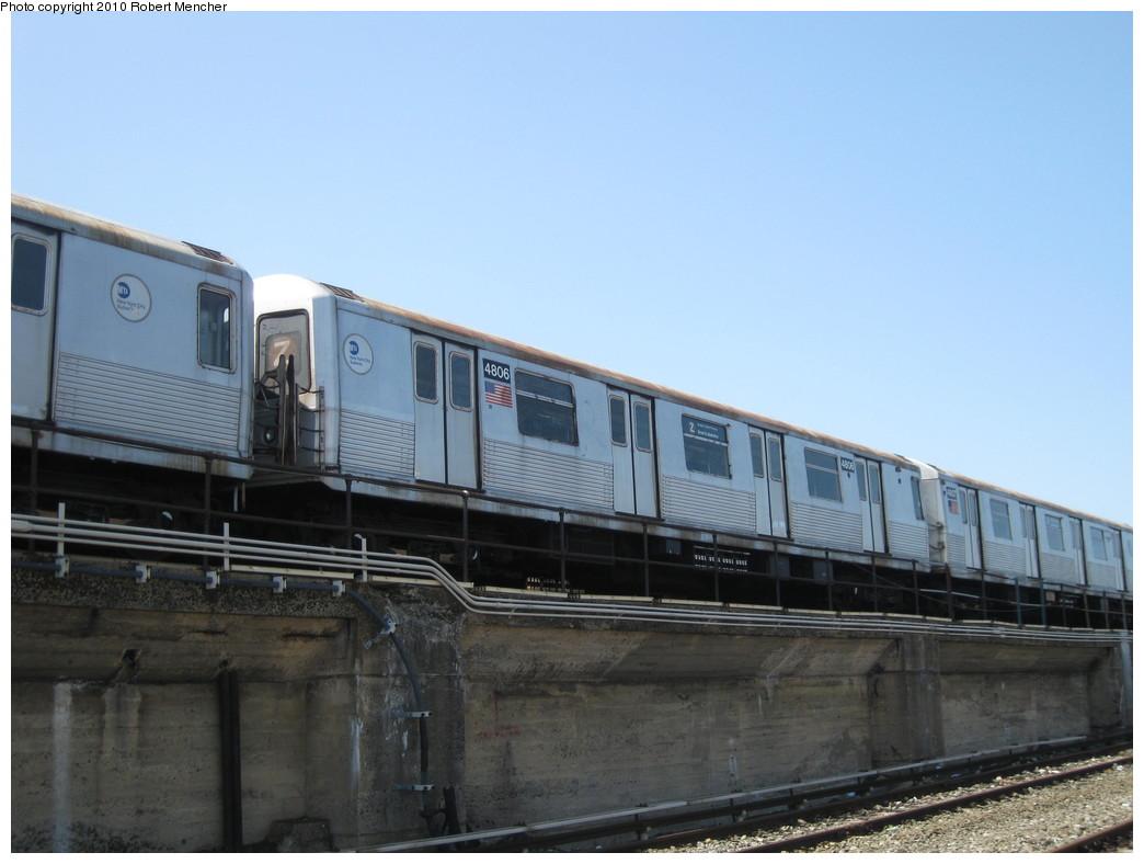 (166k, 1044x788)<br><b>Country:</b> United States<br><b>City:</b> New York<br><b>System:</b> New York City Transit<br><b>Location:</b> East New York Yard/Shops<br><b>Car:</b> R-42 (St. Louis, 1969-1970)  4806 <br><b>Photo by:</b> Robert Mencher<br><b>Date:</b> 4/4/2010<br><b>Viewed (this week/total):</b> 0 / 593
