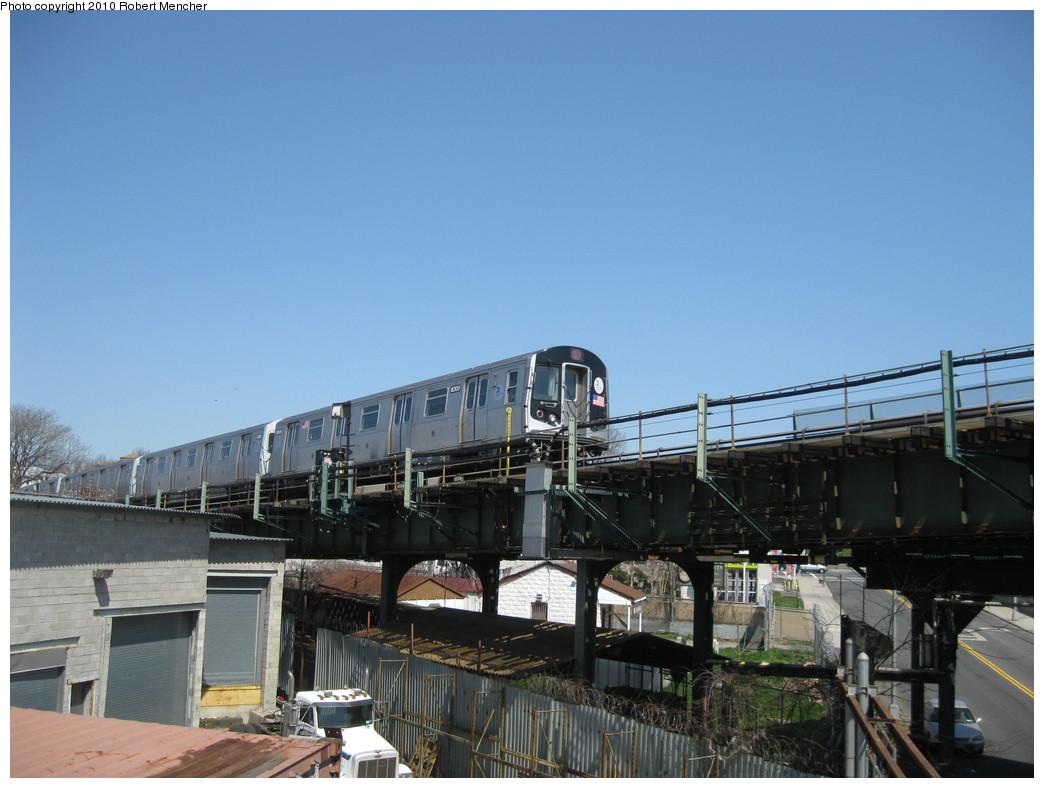 (188k, 1044x788)<br><b>Country:</b> United States<br><b>City:</b> New York<br><b>System:</b> New York City Transit<br><b>Line:</b> BMT Canarsie Line<br><b>Location:</b> Broadway Junction <br><b>Route:</b> L<br><b>Car:</b> R-143 (Kawasaki, 2001-2002) 8309 <br><b>Photo by:</b> Robert Mencher<br><b>Date:</b> 4/4/2010<br><b>Viewed (this week/total):</b> 0 / 921