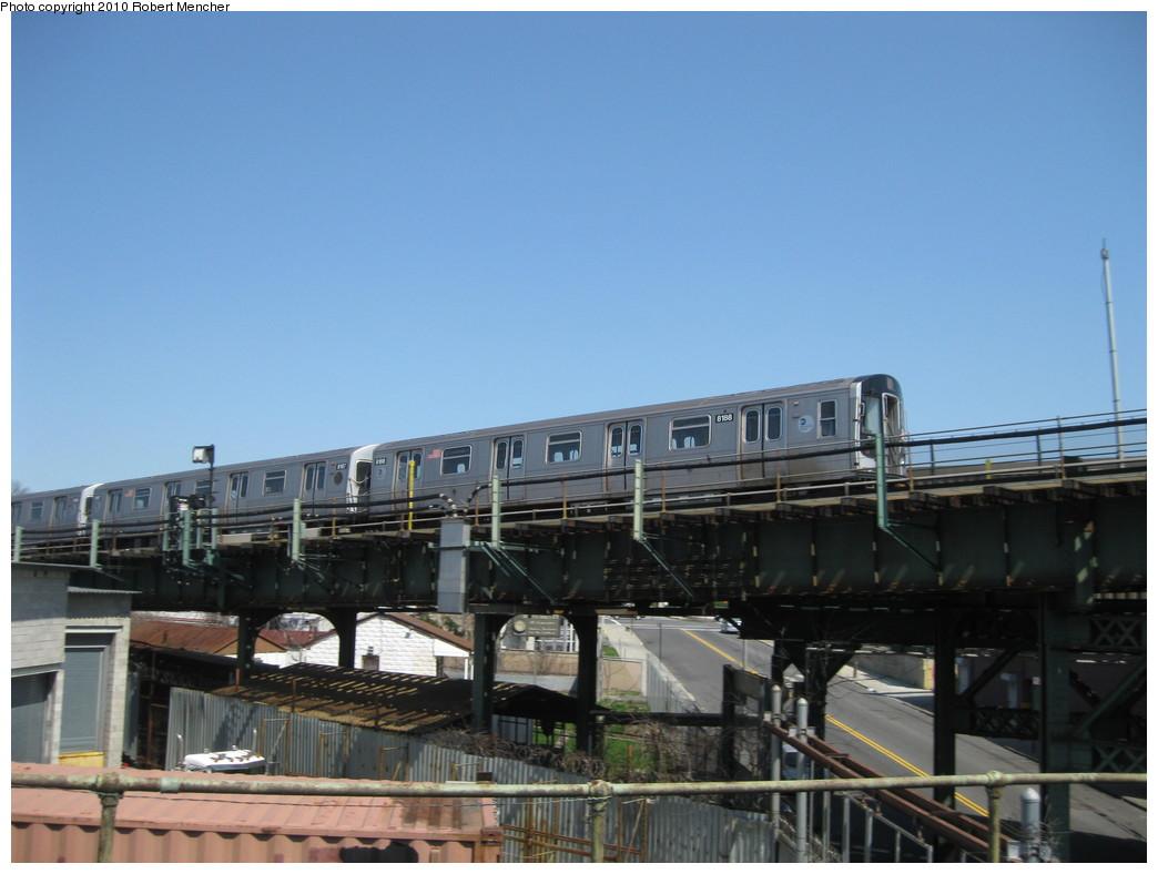 (172k, 1044x788)<br><b>Country:</b> United States<br><b>City:</b> New York<br><b>System:</b> New York City Transit<br><b>Line:</b> BMT Canarsie Line<br><b>Location:</b> Broadway Junction <br><b>Route:</b> L<br><b>Car:</b> R-143 (Kawasaki, 2001-2002) 8158 <br><b>Photo by:</b> Robert Mencher<br><b>Date:</b> 4/4/2010<br><b>Viewed (this week/total):</b> 2 / 930