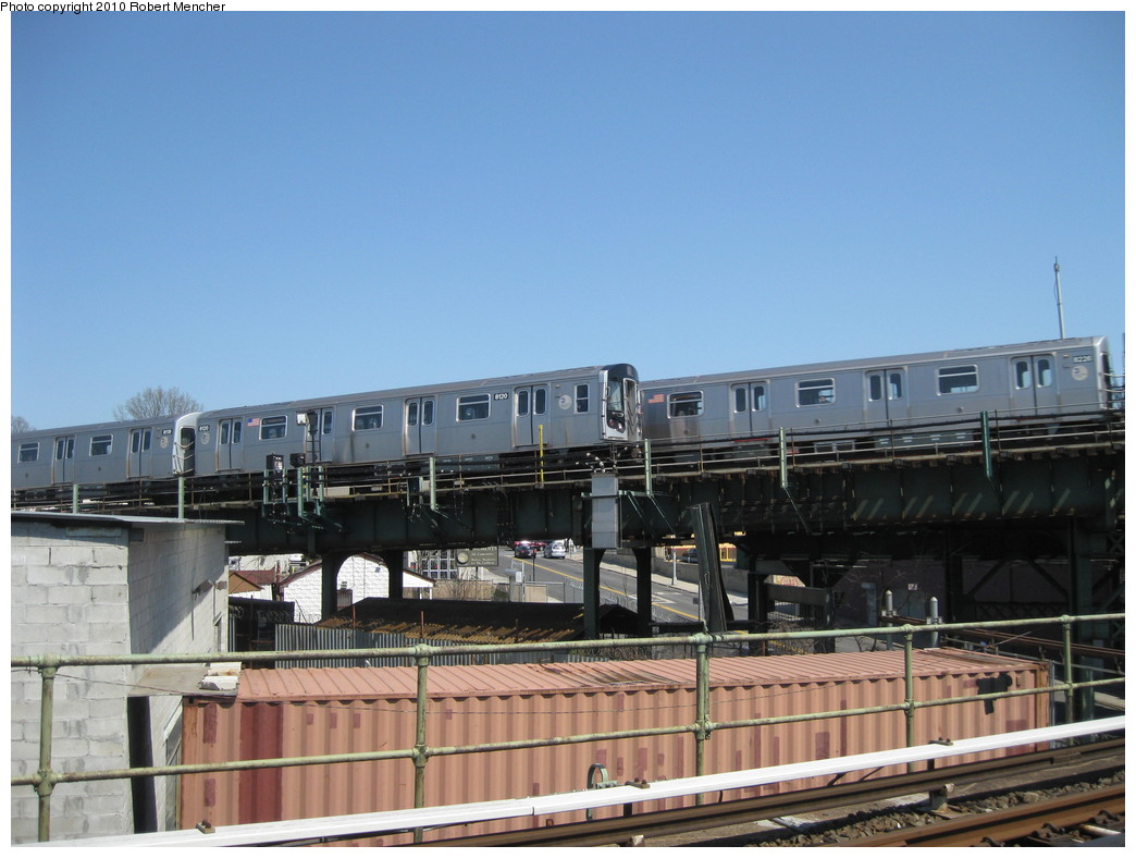 (195k, 1044x788)<br><b>Country:</b> United States<br><b>City:</b> New York<br><b>System:</b> New York City Transit<br><b>Line:</b> BMT Canarsie Line<br><b>Location:</b> Broadway Junction <br><b>Route:</b> L<br><b>Car:</b> R-143 (Kawasaki, 2001-2002) 8120 <br><b>Photo by:</b> Robert Mencher<br><b>Date:</b> 4/4/2010<br><b>Viewed (this week/total):</b> 0 / 842