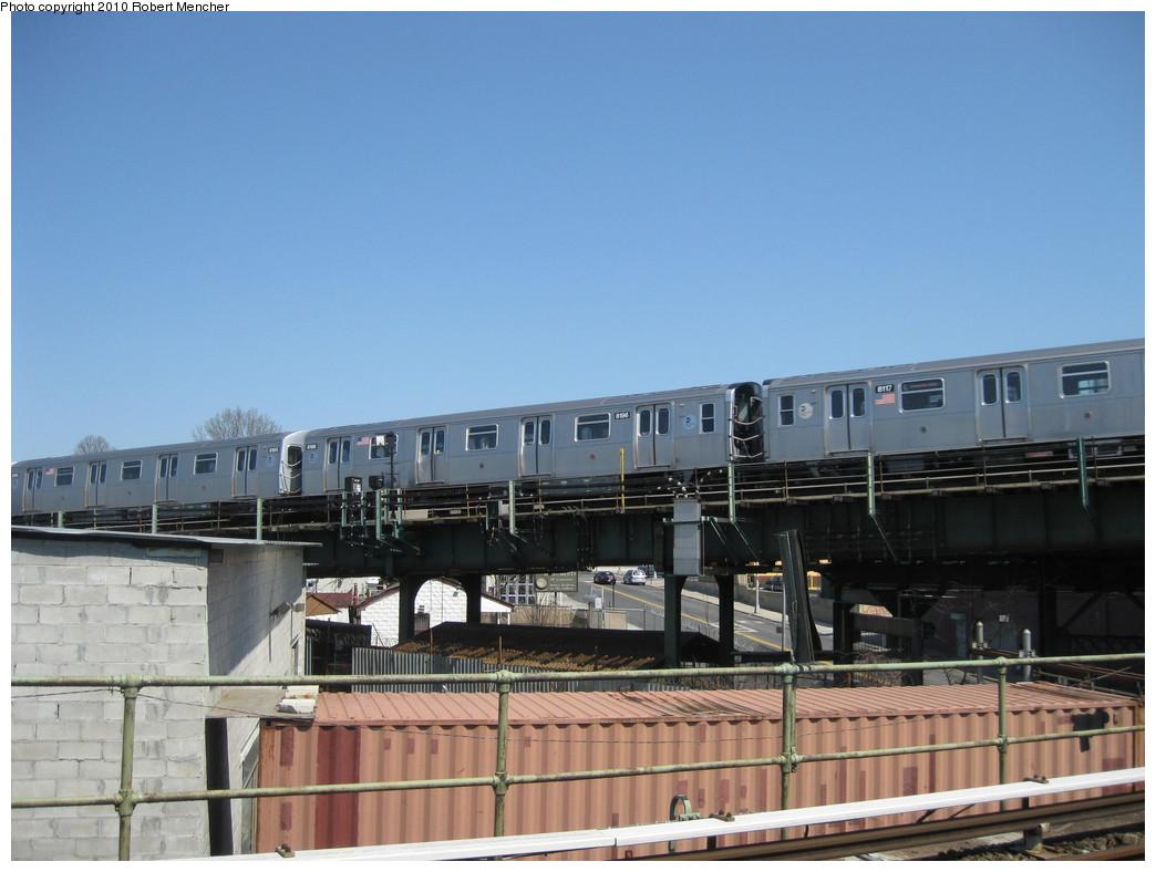 (185k, 1044x788)<br><b>Country:</b> United States<br><b>City:</b> New York<br><b>System:</b> New York City Transit<br><b>Line:</b> BMT Canarsie Line<br><b>Location:</b> Broadway Junction <br><b>Route:</b> L<br><b>Car:</b> R-143 (Kawasaki, 2001-2002) 8196 <br><b>Photo by:</b> Robert Mencher<br><b>Date:</b> 4/4/2010<br><b>Viewed (this week/total):</b> 0 / 714