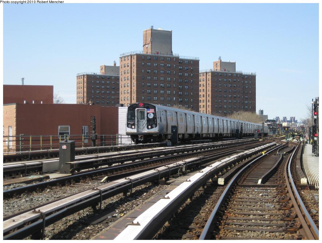 (246k, 1044x788)<br><b>Country:</b> United States<br><b>City:</b> New York<br><b>System:</b> New York City Transit<br><b>Line:</b> BMT Nassau Street/Jamaica Line<br><b>Location:</b> Broadway/East New York (Broadway Junction) <br><b>Route:</b> J<br><b>Car:</b> R-160A-1 (Alstom, 2005-2008, 4 car sets)  8485 <br><b>Photo by:</b> Robert Mencher<br><b>Date:</b> 4/4/2010<br><b>Viewed (this week/total):</b> 0 / 1080
