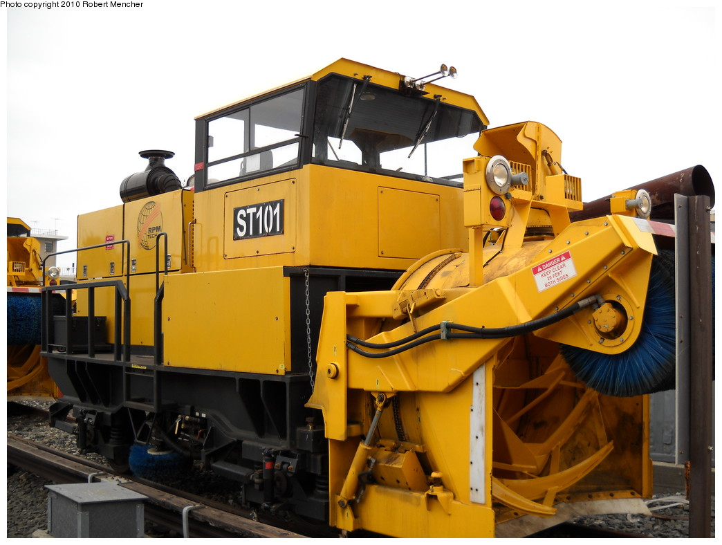 (222k, 1044x788)<br><b>Country:</b> United States<br><b>City:</b> New York<br><b>System:</b> New York City Transit<br><b>Location:</b> Coney Island Yard<br><b>Car:</b> R-146 Snow Removal Car ST101 <br><b>Photo by:</b> Robert Mencher<br><b>Date:</b> 4/16/2010<br><b>Viewed (this week/total):</b> 4 / 1005