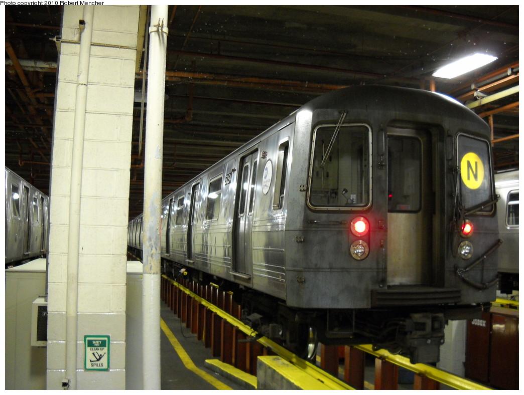 (242k, 1044x788)<br><b>Country:</b> United States<br><b>City:</b> New York<br><b>System:</b> New York City Transit<br><b>Location:</b> Coney Island Shop/Maint. & Inspection Shop<br><b>Car:</b> R-68A (Kawasaki, 1988-1989)  5054 <br><b>Photo by:</b> Robert Mencher<br><b>Date:</b> 4/16/2010<br><b>Viewed (this week/total):</b> 0 / 1228