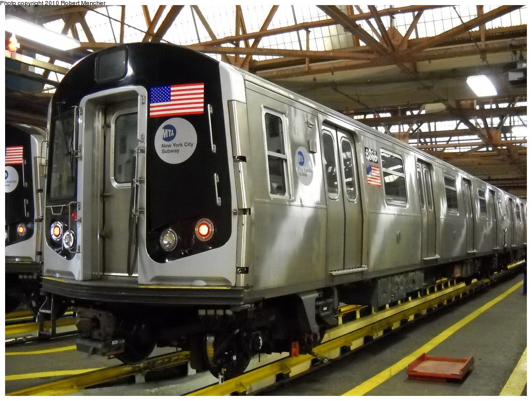 (280k, 1044x788)<br><b>Country:</b> United States<br><b>City:</b> New York<br><b>System:</b> New York City Transit<br><b>Location:</b> Coney Island Shop/Maint. & Inspection Shop<br><b>Car:</b> R-160B (Kawasaki, 2005-2008)  8868 <br><b>Photo by:</b> Robert Mencher<br><b>Date:</b> 4/16/2010<br><b>Viewed (this week/total):</b> 0 / 763