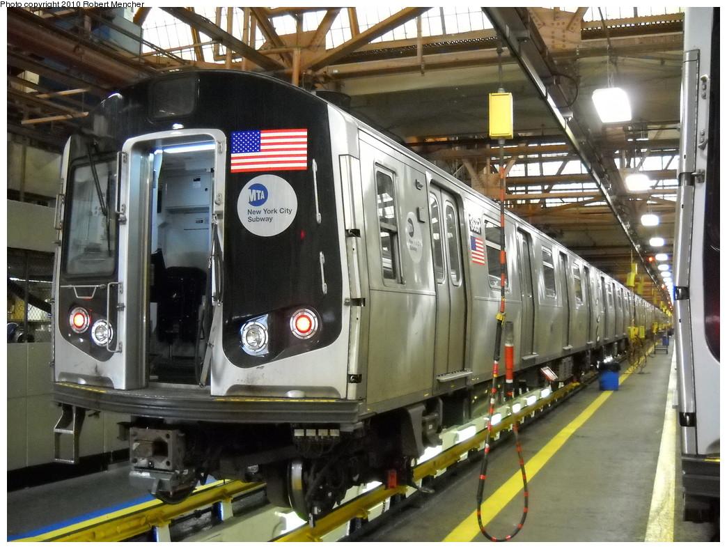 (283k, 1044x788)<br><b>Country:</b> United States<br><b>City:</b> New York<br><b>System:</b> New York City Transit<br><b>Location:</b> Coney Island Shop/Maint. & Inspection Shop<br><b>Car:</b> R-160A-2 (Alstom, 2005-2008, 5 car sets)  8687 <br><b>Photo by:</b> Robert Mencher<br><b>Date:</b> 4/16/2010<br><b>Viewed (this week/total):</b> 0 / 1078