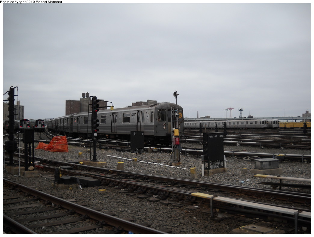 (197k, 1044x788)<br><b>Country:</b> United States<br><b>City:</b> New York<br><b>System:</b> New York City Transit<br><b>Location:</b> Coney Island Yard<br><b>Car:</b> R-68A (Kawasaki, 1988-1989)  5006 <br><b>Photo by:</b> Robert Mencher<br><b>Date:</b> 4/16/2010<br><b>Viewed (this week/total):</b> 0 / 708