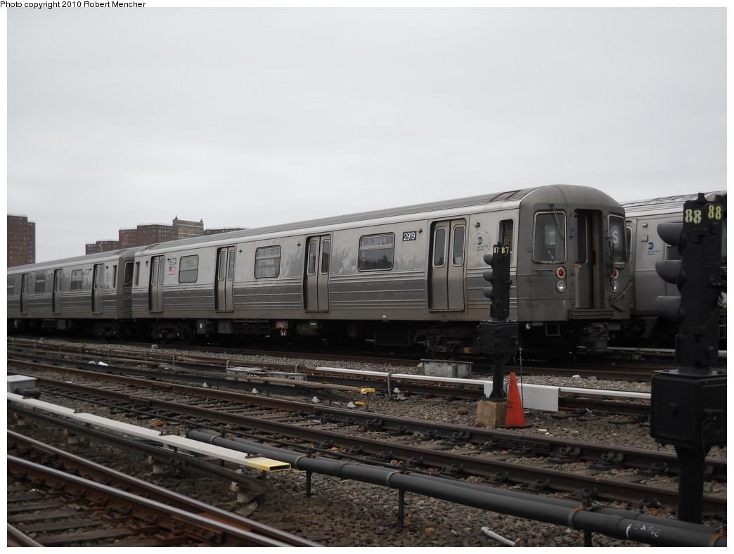 (199k, 1044x788)<br><b>Country:</b> United States<br><b>City:</b> New York<br><b>System:</b> New York City Transit<br><b>Location:</b> Coney Island Yard<br><b>Car:</b> R-68 (Westinghouse-Amrail, 1986-1988)  2919 <br><b>Photo by:</b> Robert Mencher<br><b>Date:</b> 4/16/2010<br><b>Viewed (this week/total):</b> 1 / 893