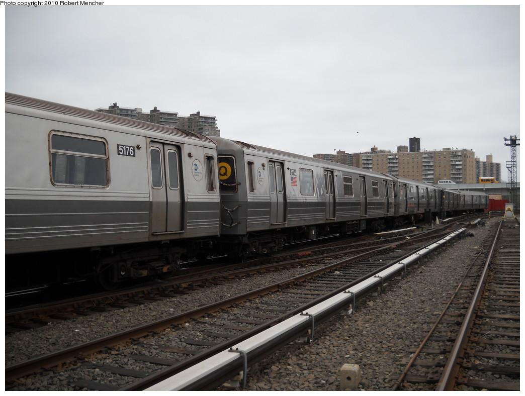 (218k, 1044x788)<br><b>Country:</b> United States<br><b>City:</b> New York<br><b>System:</b> New York City Transit<br><b>Location:</b> Coney Island Yard<br><b>Car:</b> R-68A (Kawasaki, 1988-1989)  5114 <br><b>Photo by:</b> Robert Mencher<br><b>Date:</b> 4/16/2010<br><b>Viewed (this week/total):</b> 0 / 640