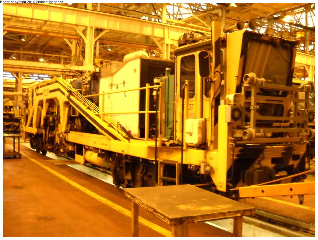 (308k, 1044x788)<br><b>Country:</b> United States<br><b>City:</b> New York<br><b>System:</b> New York City Transit<br><b>Location:</b> Coney Island Shop/Overhaul & Repair Shop<br><b>Car:</b> Ballast Tamper TP237 <br><b>Photo by:</b> Robert Mencher<br><b>Date:</b> 4/16/2010<br><b>Viewed (this week/total):</b> 6 / 778