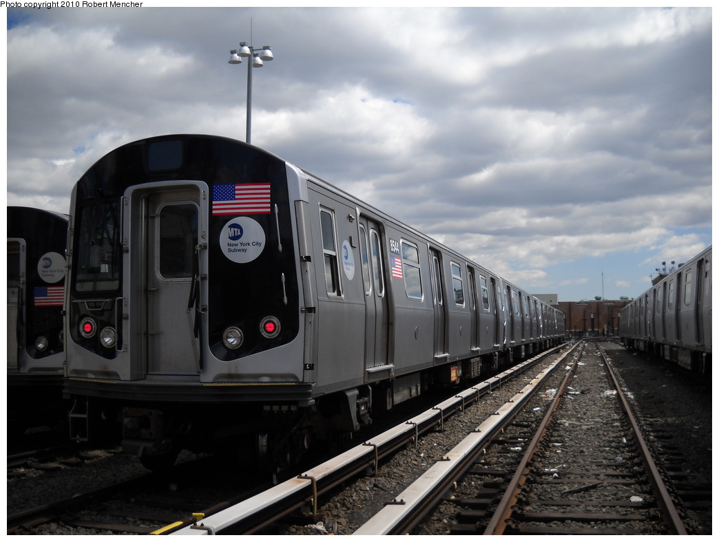 (208k, 1044x788)<br><b>Country:</b> United States<br><b>City:</b> New York<br><b>System:</b> New York City Transit<br><b>Location:</b> East New York Yard/Shops<br><b>Car:</b> R-160A-1 (Alstom, 2005-2008, 4 car sets)  8544 <br><b>Photo by:</b> Robert Mencher<br><b>Date:</b> 4/18/2010<br><b>Viewed (this week/total):</b> 4 / 470