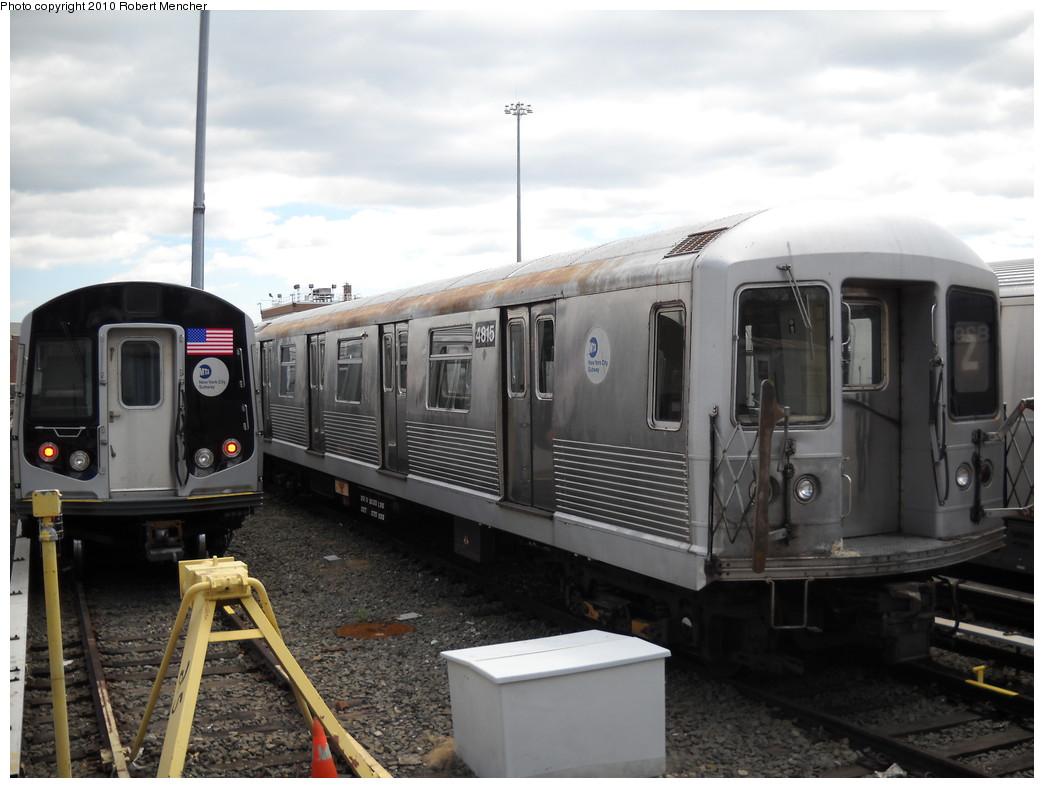 (208k, 1044x788)<br><b>Country:</b> United States<br><b>City:</b> New York<br><b>System:</b> New York City Transit<br><b>Location:</b> East New York Yard/Shops<br><b>Car:</b> R-42 (St. Louis, 1969-1970)  4815 <br><b>Photo by:</b> Robert Mencher<br><b>Date:</b> 4/18/2010<br><b>Viewed (this week/total):</b> 2 / 566