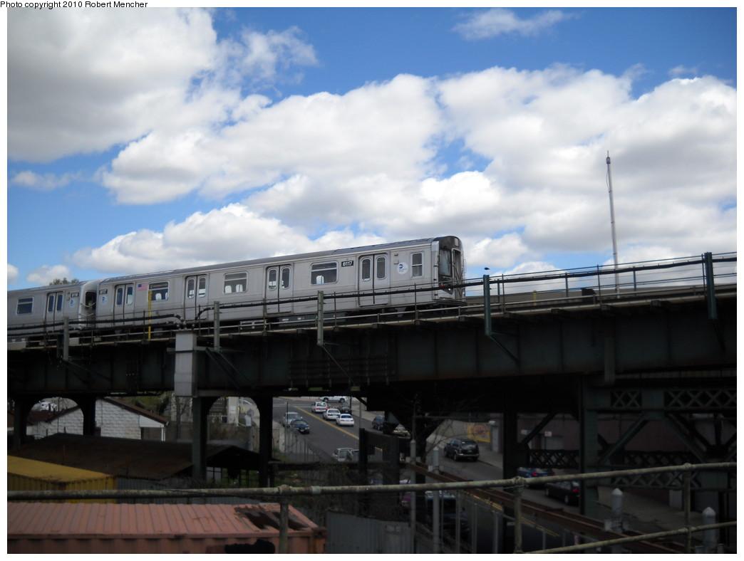 (183k, 1044x788)<br><b>Country:</b> United States<br><b>City:</b> New York<br><b>System:</b> New York City Transit<br><b>Line:</b> BMT Canarsie Line<br><b>Location:</b> Broadway Junction <br><b>Route:</b> L<br><b>Car:</b> R-143 (Kawasaki, 2001-2002) 8117 <br><b>Photo by:</b> Robert Mencher<br><b>Date:</b> 4/18/2010<br><b>Viewed (this week/total):</b> 0 / 1132