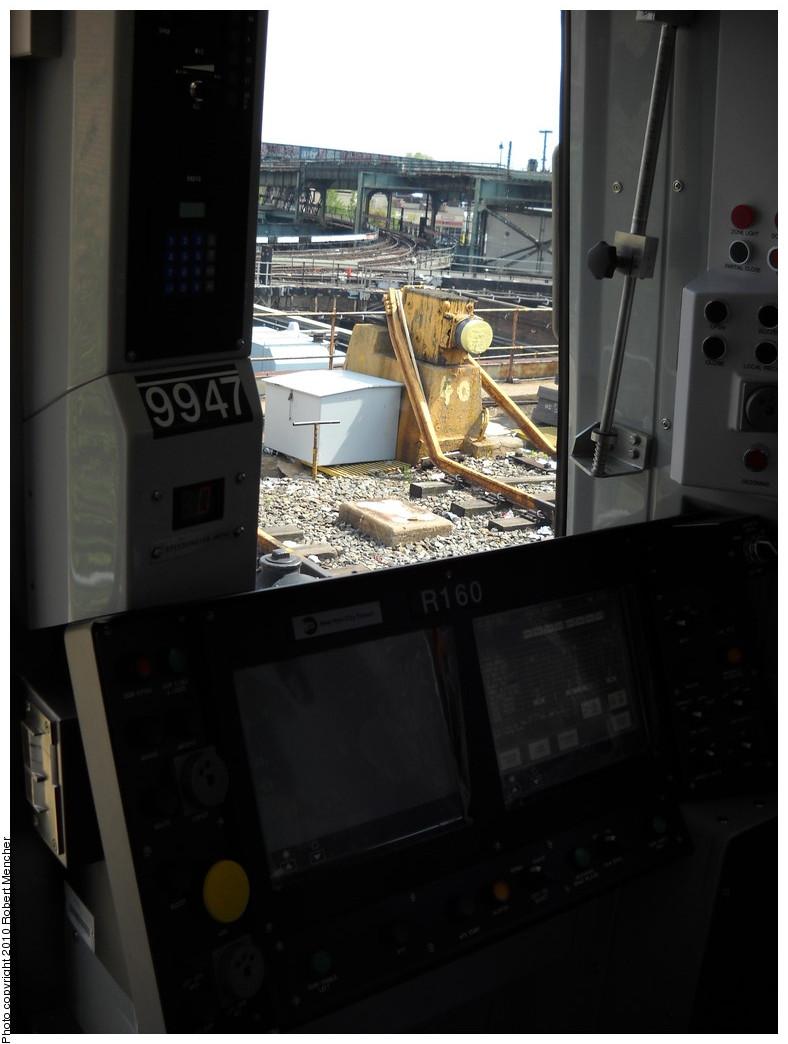 (173k, 788x1044)<br><b>Country:</b> United States<br><b>City:</b> New York<br><b>System:</b> New York City Transit<br><b>Location:</b> East New York Yard/Shops<br><b>Car:</b> R-160A (Option 2) (Alstom, 2009, 4-car sets)  9947 <br><b>Photo by:</b> Robert Mencher<br><b>Date:</b> 4/21/2010<br><b>Viewed (this week/total):</b> 1 / 1650