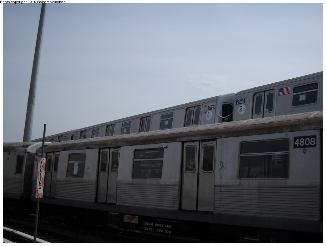 (147k, 1044x788)<br><b>Country:</b> United States<br><b>City:</b> New York<br><b>System:</b> New York City Transit<br><b>Location:</b> East New York Yard/Shops<br><b>Car:</b> R-160A (Option 2) (Alstom, 2009, 4-car sets)  9949 <br><b>Photo by:</b> Robert Mencher<br><b>Date:</b> 4/21/2010<br><b>Viewed (this week/total):</b> 2 / 1119