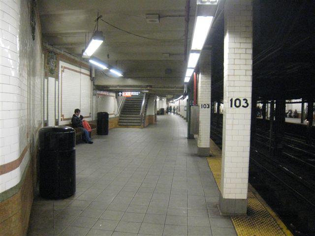 (51k, 640x480)<br><b>Country:</b> United States<br><b>City:</b> New York<br><b>System:</b> New York City Transit<br><b>Line:</b> IRT West Side Line<br><b>Location:</b> 103rd Street <br><b>Photo by:</b> David Blair<br><b>Date:</b> 4/1/2008<br><b>Viewed (this week/total):</b> 0 / 779