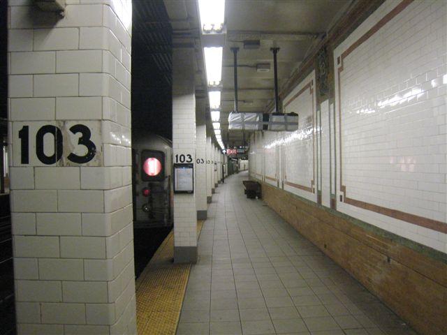 (47k, 640x480)<br><b>Country:</b> United States<br><b>City:</b> New York<br><b>System:</b> New York City Transit<br><b>Line:</b> IRT West Side Line<br><b>Location:</b> 103rd Street <br><b>Photo by:</b> David Blair<br><b>Date:</b> 3/24/2009<br><b>Viewed (this week/total):</b> 2 / 987