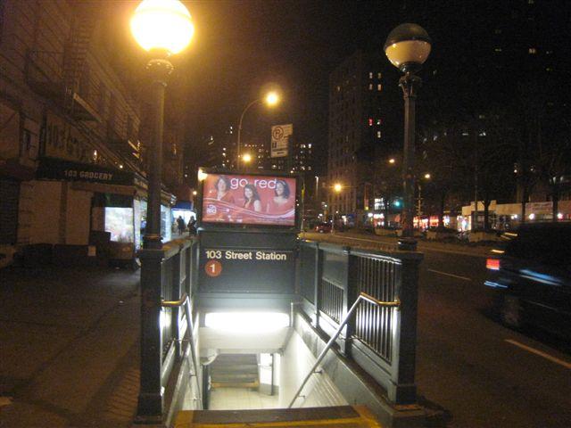 (53k, 640x480)<br><b>Country:</b> United States<br><b>City:</b> New York<br><b>System:</b> New York City Transit<br><b>Line:</b> IRT West Side Line<br><b>Location:</b> 103rd Street <br><b>Photo by:</b> David Blair<br><b>Date:</b> 3/24/2009<br><b>Viewed (this week/total):</b> 0 / 1373