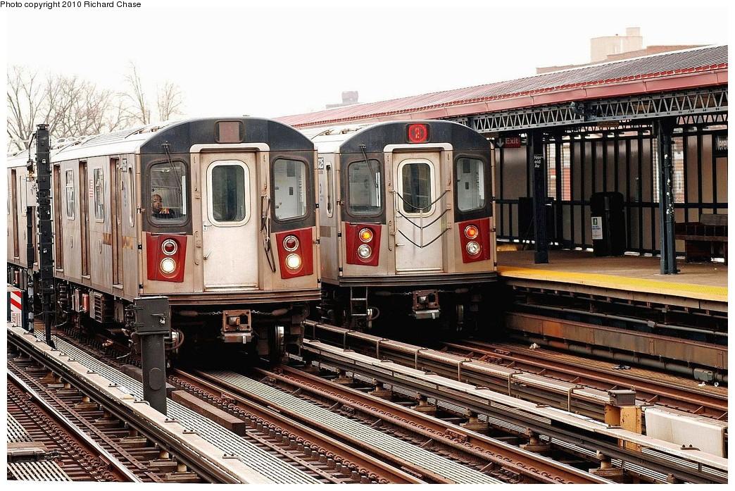 (275k, 1044x697)<br><b>Country:</b> United States<br><b>City:</b> New York<br><b>System:</b> New York City Transit<br><b>Line:</b> IRT White Plains Road Line<br><b>Location:</b> 238th Street (Nereid Avenue) <br><b>Route:</b> 2<br><b>Car:</b> R-142 or R-142A (Number Unknown)  <br><b>Photo by:</b> Richard Chase<br><b>Date:</b> 3/25/2010<br><b>Viewed (this week/total):</b> 0 / 1592
