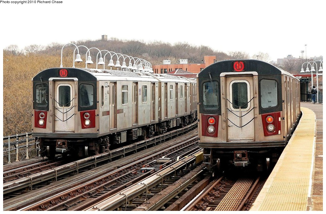 (264k, 1044x685)<br><b>Country:</b> United States<br><b>City:</b> New York<br><b>System:</b> New York City Transit<br><b>Line:</b> IRT White Plains Road Line<br><b>Location:</b> West Farms Sq./East Tremont Ave./177th St. <br><b>Route:</b> 5<br><b>Car:</b> R-142 or R-142A (Number Unknown)  <br><b>Photo by:</b> Richard Chase<br><b>Date:</b> 3/25/2010<br><b>Viewed (this week/total):</b> 0 / 1231