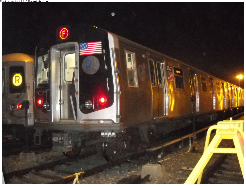 (237k, 1044x788)<br><b>Country:</b> United States<br><b>City:</b> New York<br><b>System:</b> New York City Transit<br><b>Location:</b> Jamaica Yard/Shops<br><b>Car:</b> R-160A (Option 1) (Alstom, 2008-2009, 5 car sets)  9547 <br><b>Photo by:</b> Robert Mencher<br><b>Date:</b> 4/30/2010<br><b>Viewed (this week/total):</b> 2 / 1439