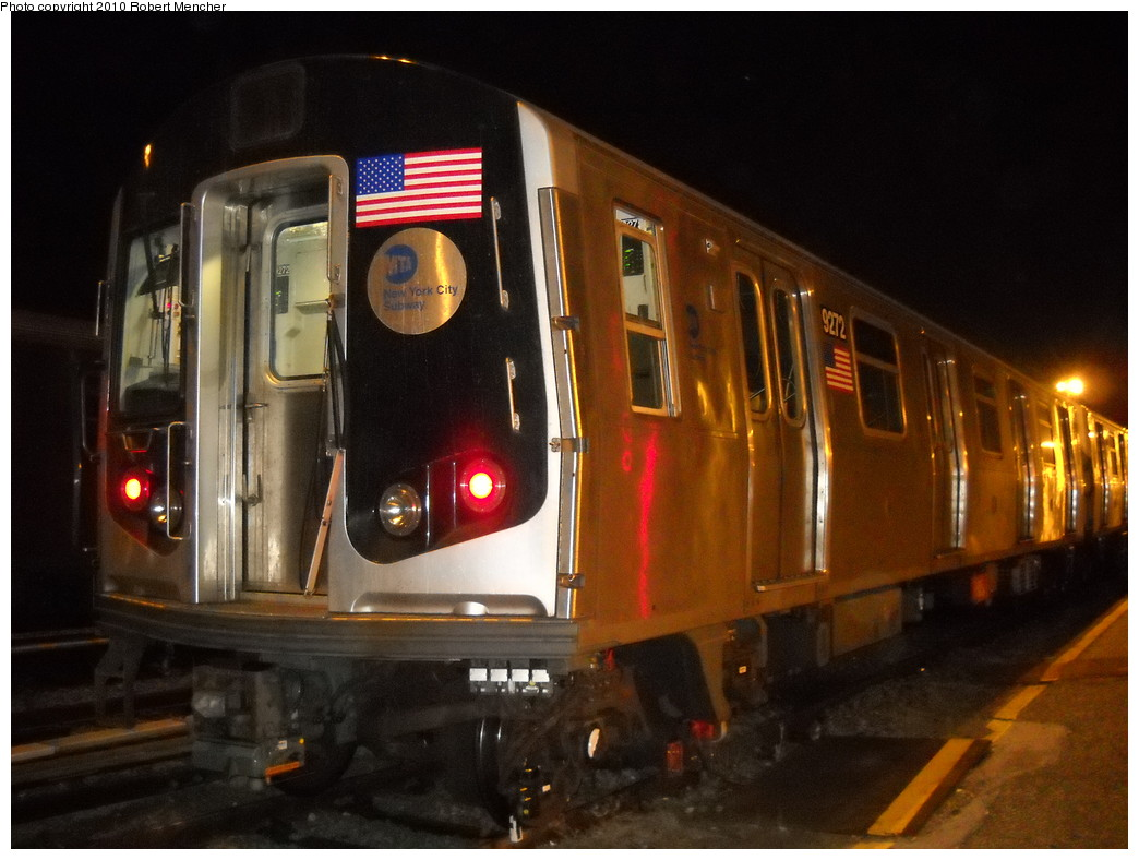 (223k, 1044x788)<br><b>Country:</b> United States<br><b>City:</b> New York<br><b>System:</b> New York City Transit<br><b>Location:</b> Jamaica Yard/Shops<br><b>Car:</b> R-160A (Option 1) (Alstom, 2008-2009, 5 car sets)  9272 <br><b>Photo by:</b> Robert Mencher<br><b>Date:</b> 4/30/2010<br><b>Viewed (this week/total):</b> 1 / 1032