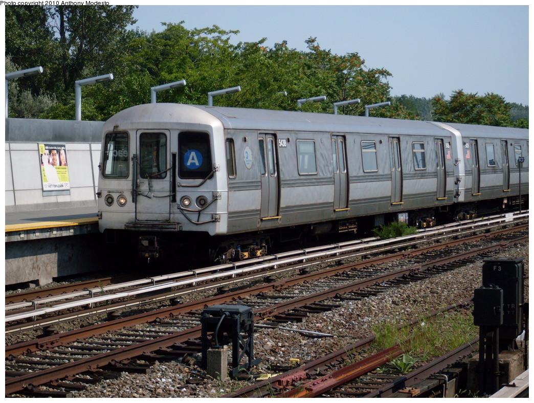 (330k, 1044x788)<br><b>Country:</b> United States<br><b>City:</b> New York<br><b>System:</b> New York City Transit<br><b>Line:</b> IND Rockaway<br><b>Location:</b> Howard Beach <br><b>Route:</b> A<br><b>Car:</b> R-44 (St. Louis, 1971-73) 5438 <br><b>Photo by:</b> Anthony Modesto<br><b>Date:</b> 8/18/2008<br><b>Viewed (this week/total):</b> 2 / 1007