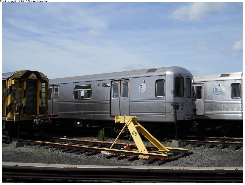 (234k, 1044x788)<br><b>Country:</b> United States<br><b>City:</b> New York<br><b>System:</b> New York City Transit<br><b>Location:</b> Jamaica Yard/Shops<br><b>Car:</b> R-46 (Pullman-Standard, 1974-75) 6026 <br><b>Photo by:</b> Robert Mencher<br><b>Date:</b> 5/15/2010<br><b>Viewed (this week/total):</b> 0 / 793