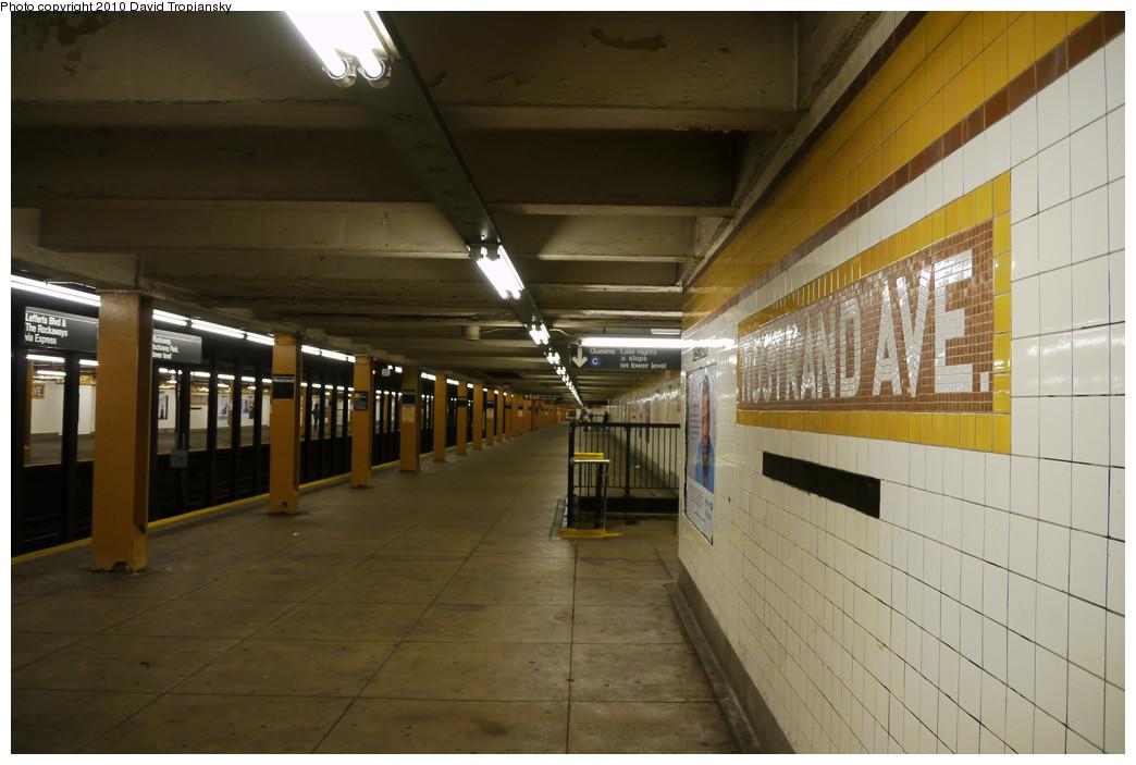 (217k, 1044x703)<br><b>Country:</b> United States<br><b>City:</b> New York<br><b>System:</b> New York City Transit<br><b>Line:</b> IND Fulton Street Line<br><b>Location:</b> Nostrand Avenue <br><b>Photo by:</b> David Tropiansky<br><b>Date:</b> 4/18/2010<br><b>Viewed (this week/total):</b> 0 / 1025