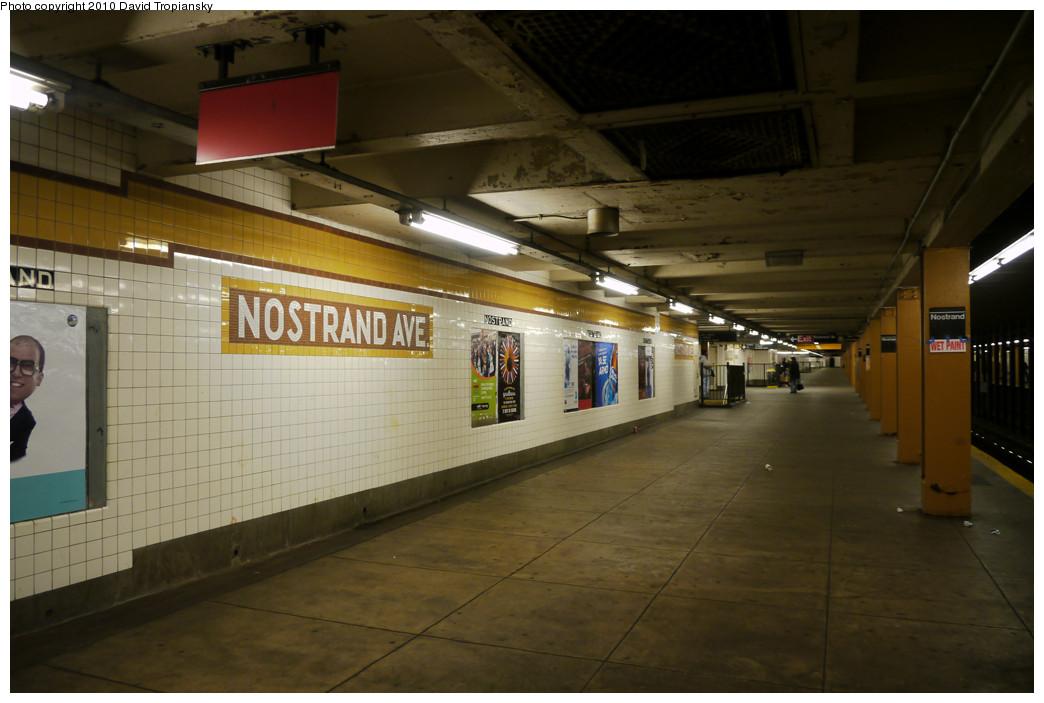 (210k, 1044x703)<br><b>Country:</b> United States<br><b>City:</b> New York<br><b>System:</b> New York City Transit<br><b>Line:</b> IND Fulton Street Line<br><b>Location:</b> Nostrand Avenue <br><b>Photo by:</b> David Tropiansky<br><b>Date:</b> 4/18/2010<br><b>Viewed (this week/total):</b> 1 / 933