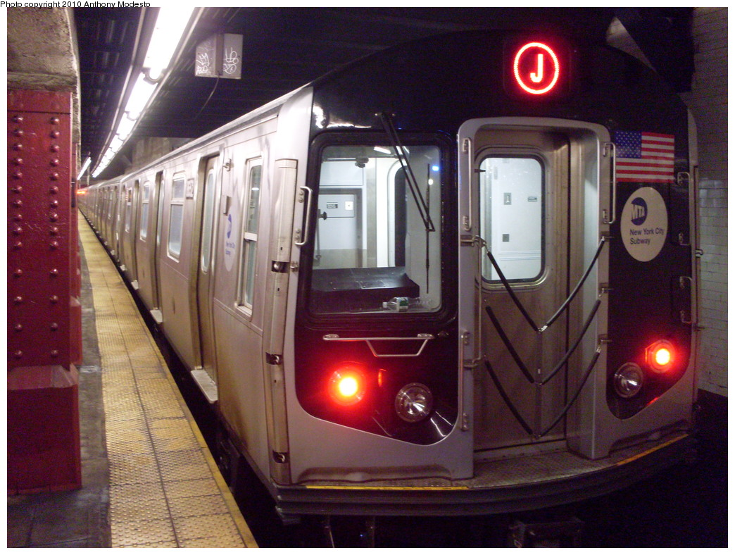 (274k, 1044x788)<br><b>Country:</b> United States<br><b>City:</b> New York<br><b>System:</b> New York City Transit<br><b>Line:</b> BMT Nassau Street/Jamaica Line<br><b>Location:</b> Bowery <br><b>Route:</b> J<br><b>Car:</b> R-160A-1 (Alstom, 2005-2008, 4 car sets)  8652 <br><b>Photo by:</b> Anthony Modesto<br><b>Date:</b> 2/21/2010<br><b>Viewed (this week/total):</b> 0 / 1381