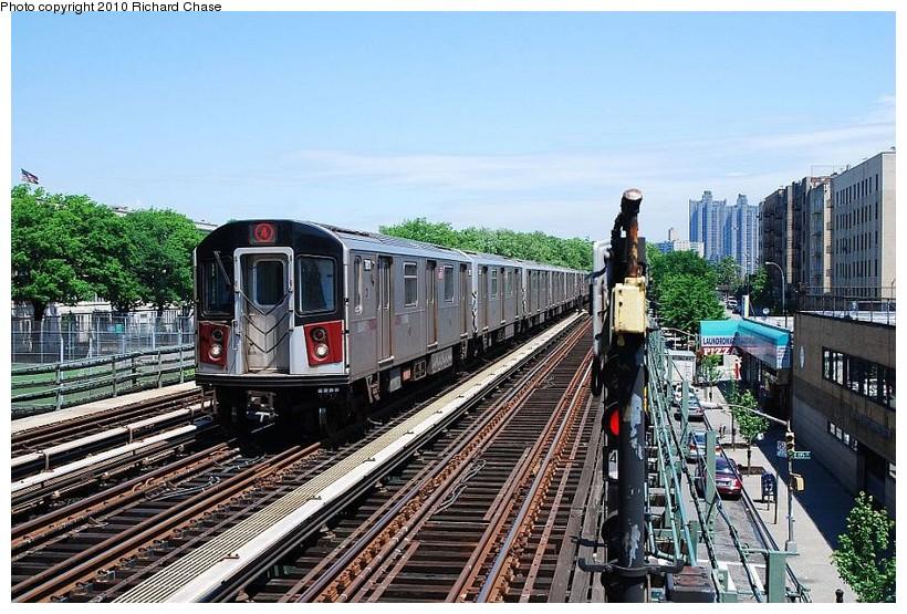 (169k, 820x555)<br><b>Country:</b> United States<br><b>City:</b> New York<br><b>System:</b> New York City Transit<br><b>Line:</b> IRT Woodlawn Line<br><b>Location:</b> Kingsbridge Road <br><b>Route:</b> 4<br><b>Car:</b> R-142 or R-142A (Number Unknown)  <br><b>Photo by:</b> Richard Chase<br><b>Date:</b> 5/8/2010<br><b>Viewed (this week/total):</b> 0 / 1466