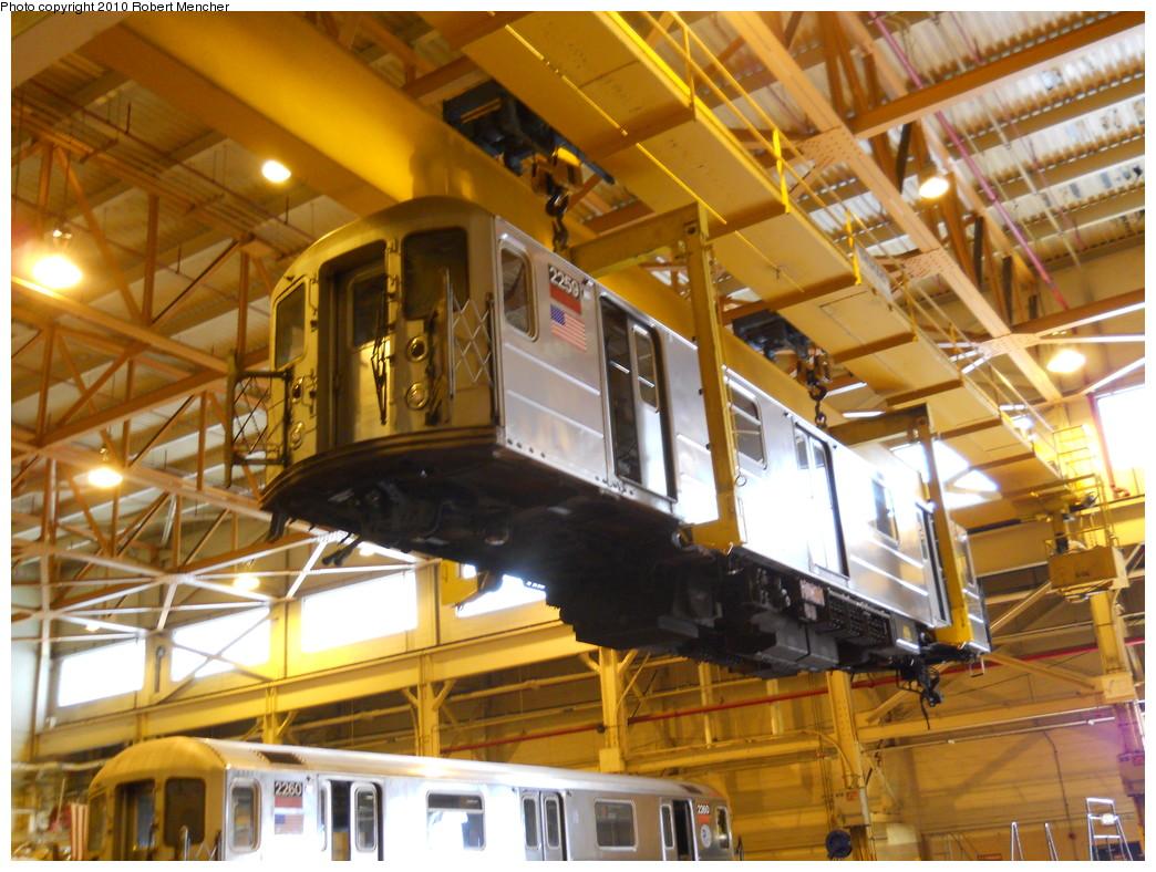 (304k, 1044x788)<br><b>Country:</b> United States<br><b>City:</b> New York<br><b>System:</b> New York City Transit<br><b>Location:</b> Coney Island Shop/Overhaul & Repair Shop<br><b>Car:</b> R-62A (Bombardier, 1984-1987)  2259 <br><b>Photo by:</b> Robert Mencher<br><b>Date:</b> 5/26/2010<br><b>Viewed (this week/total):</b> 0 / 1071