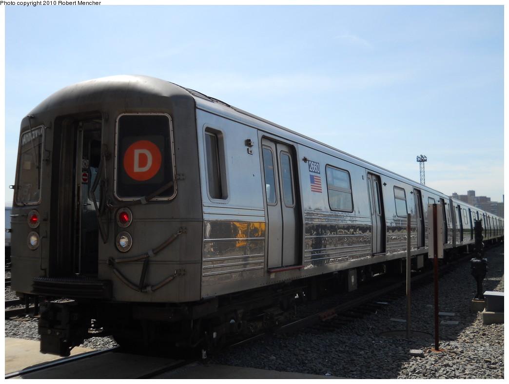 (213k, 1044x788)<br><b>Country:</b> United States<br><b>City:</b> New York<br><b>System:</b> New York City Transit<br><b>Location:</b> Coney Island Yard<br><b>Car:</b> R-68 (Westinghouse-Amrail, 1986-1988)  2660 <br><b>Photo by:</b> Robert Mencher<br><b>Date:</b> 5/26/2010<br><b>Viewed (this week/total):</b> 3 / 815