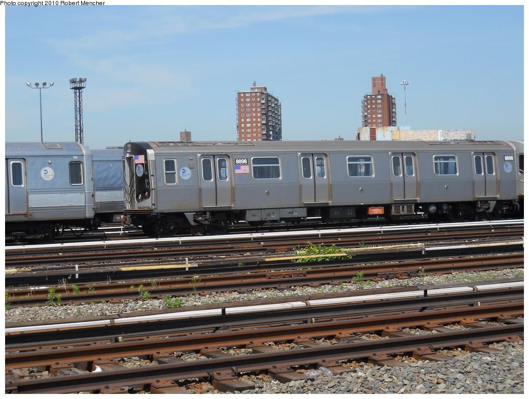 (289k, 1044x788)<br><b>Country:</b> United States<br><b>City:</b> New York<br><b>System:</b> New York City Transit<br><b>Location:</b> Coney Island Yard<br><b>Car:</b> R-160B (Kawasaki, 2005-2008)  8898 <br><b>Photo by:</b> Robert Mencher<br><b>Date:</b> 5/26/2010<br><b>Viewed (this week/total):</b> 0 / 630