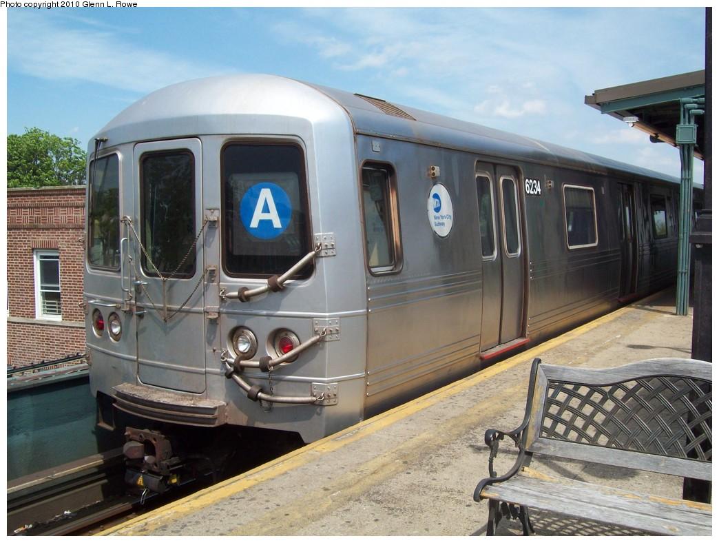 (227k, 1044x788)<br><b>Country:</b> United States<br><b>City:</b> New York<br><b>System:</b> New York City Transit<br><b>Line:</b> IND Fulton Street Line<br><b>Location:</b> Lefferts Boulevard <br><b>Route:</b> A<br><b>Car:</b> R-46 (Pullman-Standard, 1974-75) 6234 <br><b>Photo by:</b> Glenn L. Rowe<br><b>Date:</b> 5/6/2010<br><b>Viewed (this week/total):</b> 0 / 810