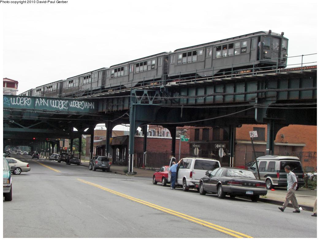 (235k, 1044x788)<br><b>Country:</b> United States<br><b>City:</b> New York<br><b>System:</b> New York City Transit<br><b>Line:</b> IND Fulton Street Line<br><b>Location:</b> 80th Street/Hudson Street <br><b>Route:</b> Fan Trip<br><b>Car:</b> Low-V (Museum Train) 5292 <br><b>Photo by:</b> David-Paul Gerber<br><b>Date:</b> 6/6/2010<br><b>Notes:</b> Note stub to former BMT Fulton el on left side.<br><b>Viewed (this week/total):</b> 0 / 2092