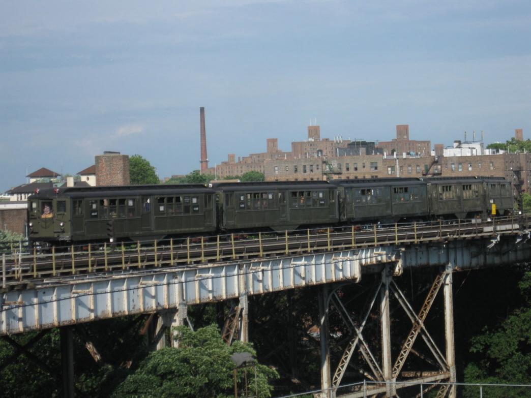 (339k, 1044x783)<br><b>Country:</b> United States<br><b>City:</b> New York<br><b>System:</b> New York City Transit<br><b>Line:</b> IRT White Plains Road Line<br><b>Location:</b> West Farms Sq./East Tremont Ave./177th St. <br><b>Route:</b> Fan Trip<br><b>Car:</b> Low-V (Museum Train) 5443 <br><b>Photo by:</b> Gary Chatterton<br><b>Date:</b> 6/6/2010<br><b>Viewed (this week/total):</b> 1 / 1486