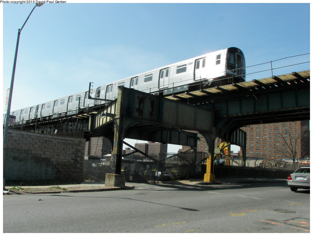 (231k, 1044x788)<br><b>Country:</b> United States<br><b>City:</b> New York<br><b>System:</b> New York City Transit<br><b>Line:</b> BMT Canarsie Line<br><b>Location:</b> Sutter Avenue <br><b>Route:</b> L<br><b>Car:</b> R-143 (Kawasaki, 2001-2002) 8125 <br><b>Photo by:</b> David-Paul Gerber<br><b>Date:</b> 4/3/2010<br><b>Notes:</b> On Pitkin Ave and Van Sinderen Ave, Manhattan-bound L train<br><b>Viewed (this week/total):</b> 4 / 1146